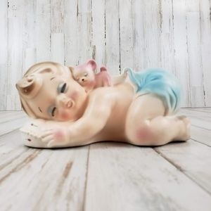 Vintage Rubens Originals Sleeping Baby Boy Planter
